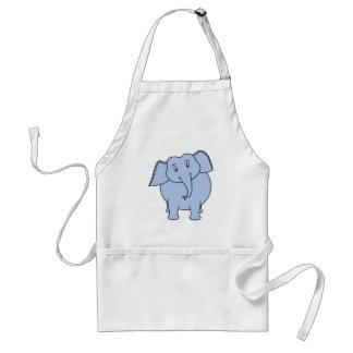 Niedliche blaue Elefant-Karikatur Schürze