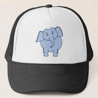 Niedliche blaue Elefant-Karikatur Truckerkappe