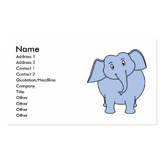 Niedliche blaue Elefant-Karikatur Visitenkarten