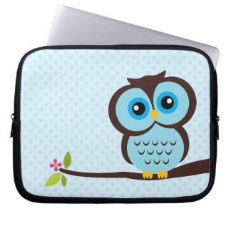 Niedliche blaue Eule Laptop Schutzhülle