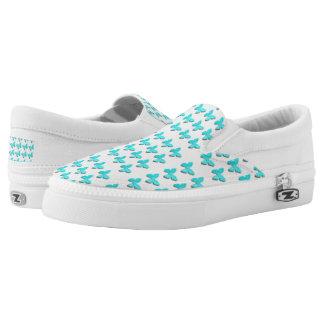 Niedliche blaue kleine Schmetterlingsschuhe Slip-On Sneaker
