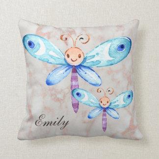 Niedliche blaue Schmetterlinge Kissen
