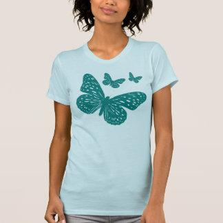 Niedliche blaue Schmetterlinge T-Shirt