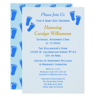 Niedliche blaues 11,4 x 15,9 cm einladungskarte