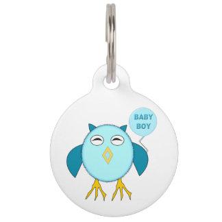 Niedliche blaues Baby-Jungen-Hundeplakette Haustiermarke