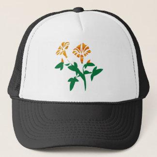 NIEDLICHE Blumen-Grafiken: SCHÖNHEIT in der Truckerkappe