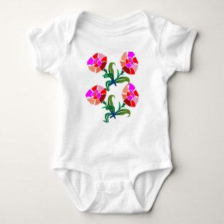 NIEDLICHE Blumen-Show: Dekorations-Grafiken Baby Strampler