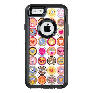 niedliche Blumen, Vögel, Herzmuster OtterBox iPhone 6/6s Hülle