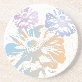 Niedliche BlumenUntersetzer Sandstein Untersetzer