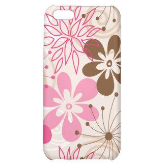 Niedliche braune und rosa abstrakte Frühlings-Blum