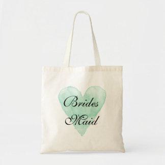 Niedliche Brautjungfern-Taschentasche für Budget Stoffbeutel