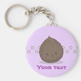 Niedliche Brown-Kokosnuss Keychain Schlüsselanhänger