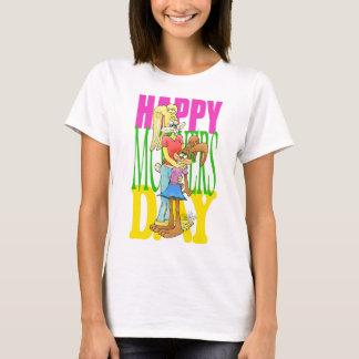 Niedliche bunnys auf einem Muttertagest-shirt T-Shirt