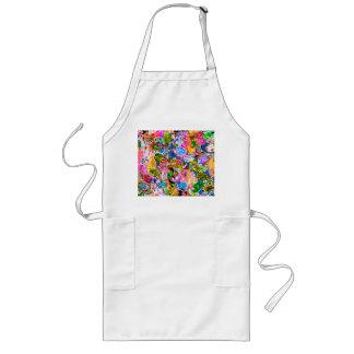 Niedliche bunte abstrakte Mischpaisley-Blumen Lange Schürze