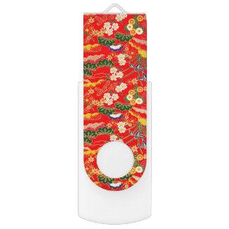 Niedliche bunte japanische Blumenmuster USB Stick