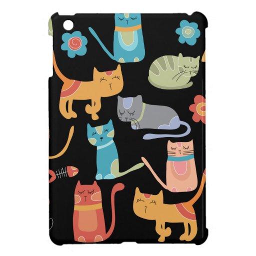 Niedliche bunte Kitty-Katzen-Geschenke für Katzen- Schutzhülle Fürs iPad Mini