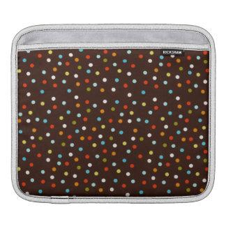 Niedliche bunte Polka-Punkte Brown Sleeve Für iPads