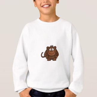 Niedliche Cartoon-Affe-Schablone Sweatshirt