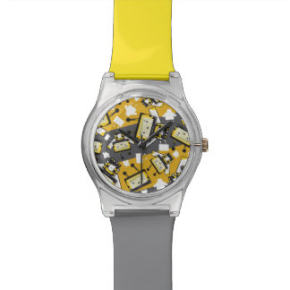 Niedliche Cartoon Blockimals Bienen-Uhr Uhr