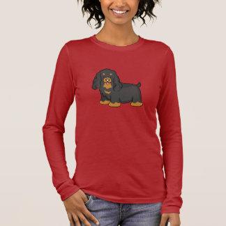 Niedliche Cartoon-Cockerspaniel-lange Hülse Langarm T-Shirt
