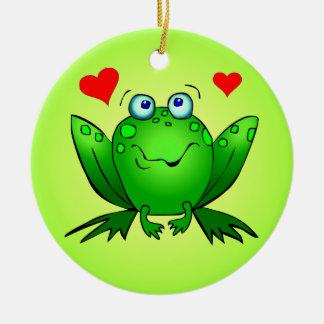 Niedliche Cartoon-Frosch-Verzierung Keramik Ornament