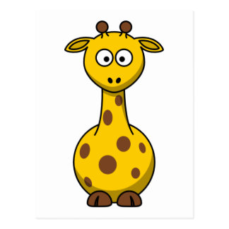 Niedliche Cartoon-Giraffe Postkarte