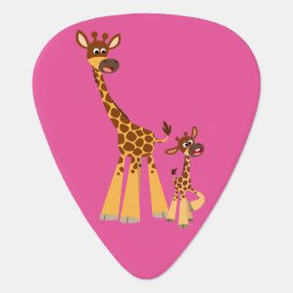 Niedliche Cartoon-Giraffe und Kalb Plektron