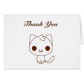 Niedliche Cartoon-Katze danken Ihnen Karte
