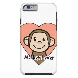 Niedliche Cartoon-Klipp-Kunst-Lächeln-Affe-Liebe Tough iPhone 6 Hülle