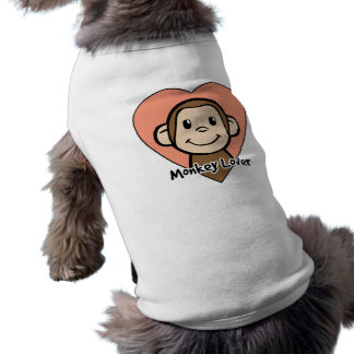 Niedliche Cartoon-Klipp-Kunst-Lächeln-Affe-Liebe T-Shirt