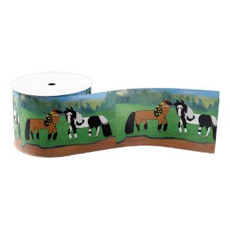 Niedliche Cartoon-Pferde Ripsband