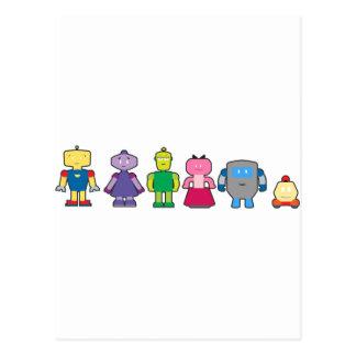 Niedliche Cartoon-Roboter Postkarte