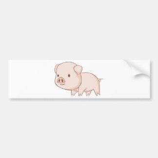 Niedliche Cartoon-Schwein-Shirts Autoaufkleber