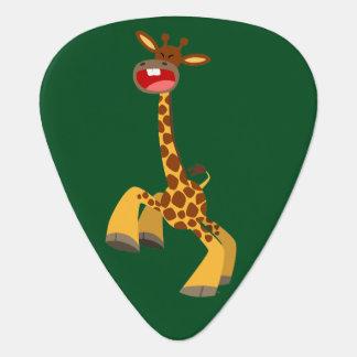 Niedliche Cartoon-Tanzen-Giraffe Plektron
