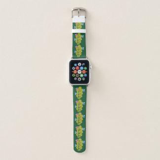 Niedliche Cartoon-Wanzen essen grüne Blatt-Kinder Apple Watch Armband