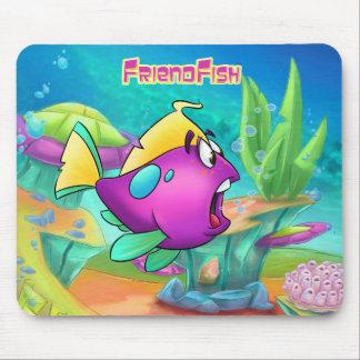 Niedliche Cartoonfisch-Mausunterlage Mousepad