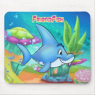 Niedliche Cartoonhaifisch-Mausunterlage Mauspad