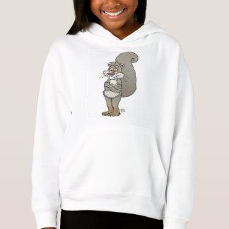 Niedliche Cartoonillustration eines Eichhörnchens Hoodie