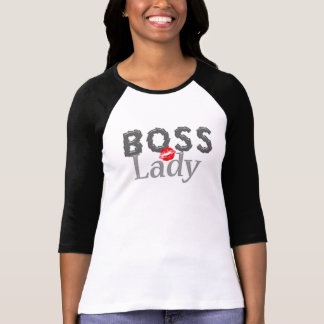 Niedliche Chef-Dame Lipstick Kiss T-Shirt