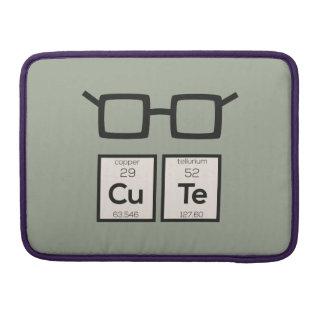 Niedliche chemisches Element-Nerd-Gläser Zwp34 MacBook Pro Sleeve