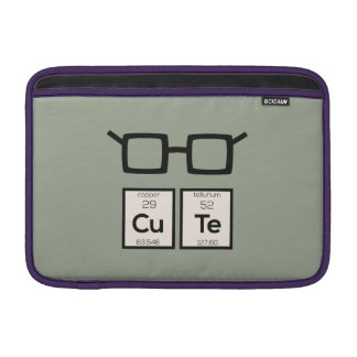 Niedliche chemisches Element-Nerd-Gläser Zwp34 Sleeve Fürs MacBook Air