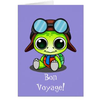 Niedliche Chibi Cartoon-Schildkröte-gute Reise Karte