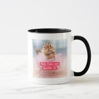 Niedliche Chipmunk-Ballerina im Tutu am Tasse