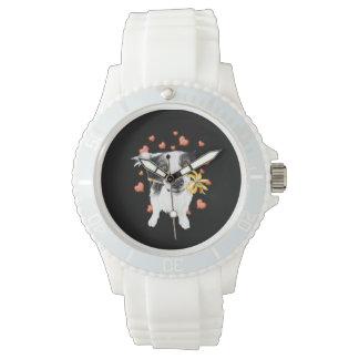 niedliche Collie Herzen Armbanduhr