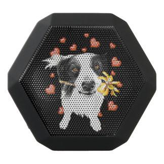 niedliche Collie Herzen Schwarze Bluetooth Lautsprecher