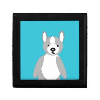 Niedliche cuddly und liebenswürdige Boston-Terrier Geschenkbox