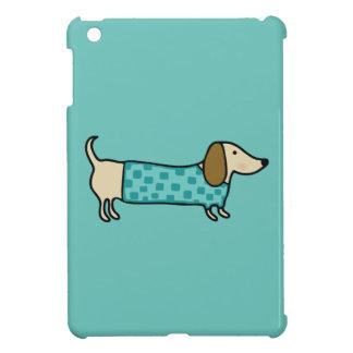 Niedliche Dackel im tadellosen Blau iPad Mini Hülle