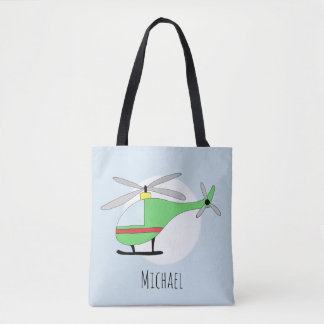 Niedliche der Hubschrauber-Flugzeuge des Jungen Tasche