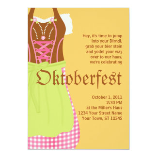Niedliche Dirndl Oktoberfest Einladung 12,7 X 17,8 Cm Einladungskarte