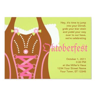 Niedliche DirndlCorsage Oktoberfest Einladung 12,7 X 17,8 Cm Einladungskarte
